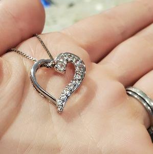 Kay Jewelers diamond heart necklace